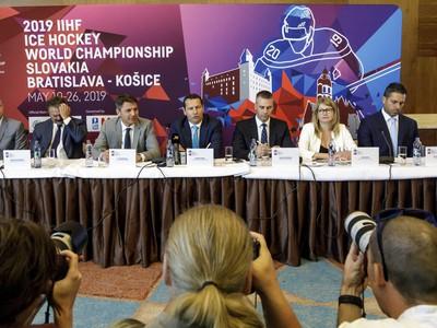 Tlačová konferencia k MS v hokeji 2019 na Slovensku