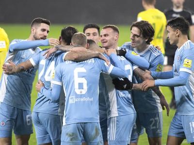 Radosť hráčov Slovana po