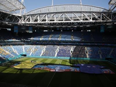 Štadión v Petrohrade pred zápasom Slovenska so Švédskom