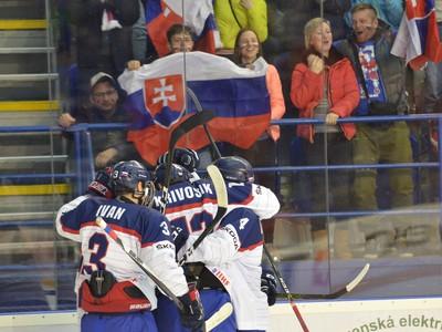 Gólové oslavy hokejistov Slovenska