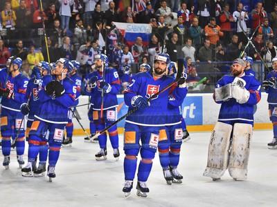 Na snímke hráči Slovenska