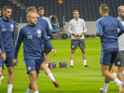 Štefan Tarkovič počas tréningového