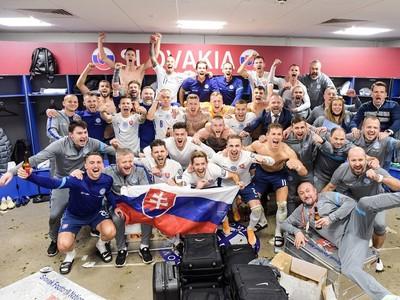 Slováci oslavujú postup na