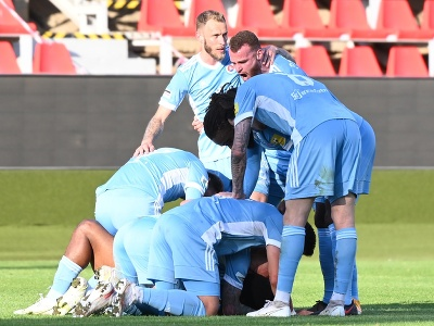 Gólové oslavy futbalistov Slovana