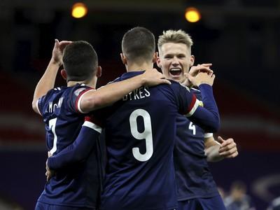 Gólová radosť hráčov Škótska