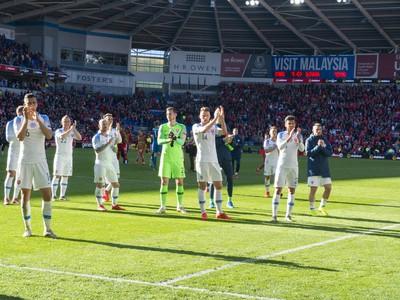Na snímke slovenskí hráči