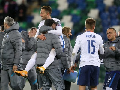 Slováci oslavujú postup na EURO