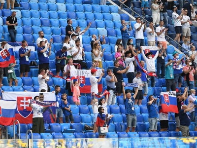 Slovenskí fanúšikovia na zápase
