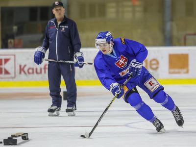 Hokejista Martin Faško-Rudáš počas prípravného kempu slovenskej hokejovej reprezentácie.