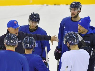 Tréning slovenskej reprezentácie pred