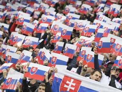 Slovenskí fanúšikovia v zápase proti Walesu