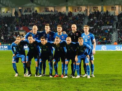 Mužstvo slovenskej reprezentácie pred