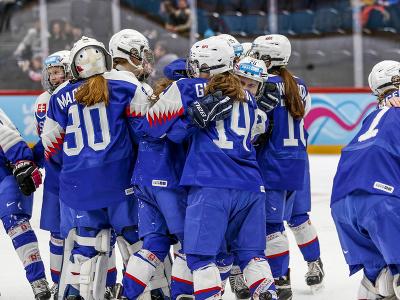 Radosť hokejistiek Slovenska zo