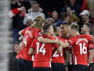 Radosť hráčov Southamptonu