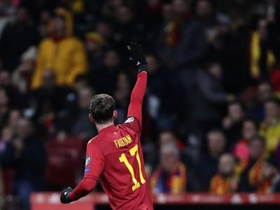 Fabian Ruiz oslavuje úvodný gól