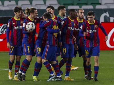 Gólové oslavy futbalistov Barcelony