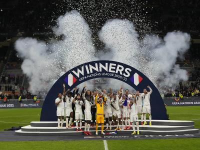 Oslavy hráčov Francúzska po