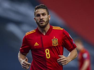 Koke v národnom drese Španielska