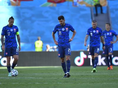 Slovenskí futbaloví reprezentanti zľava kapitán Marek Hamšík, Michal Ďuriš, Juraj Kucka a Ľubomír Šatka
