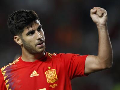 Radosť hráča Španielska Marca Asensia