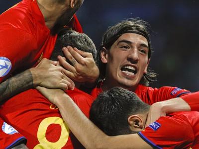 Radosť hráčov Španielska