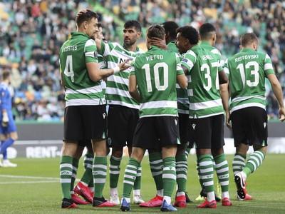 Radosť hráčov Sportingu Lisabon