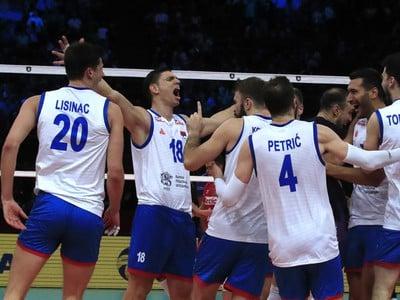 Radosť hráčov Srbska