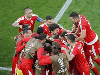Srbské gólové oslavy