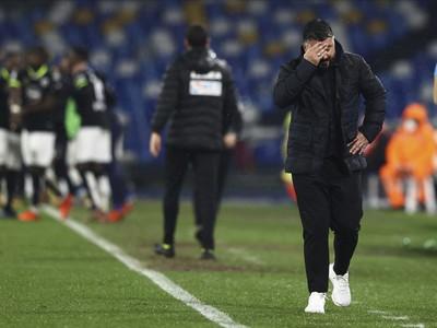 Sklamaný tréner Neapola Gennaro Gattuso