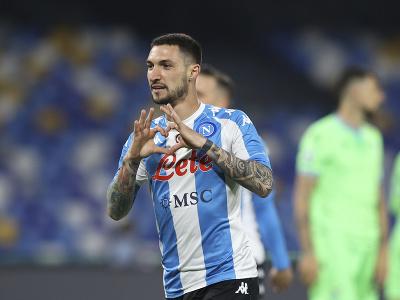 Matteo Politano oslavuje gól