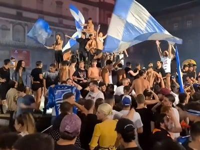 Fanúšikovia Neapola oslavovali zisku