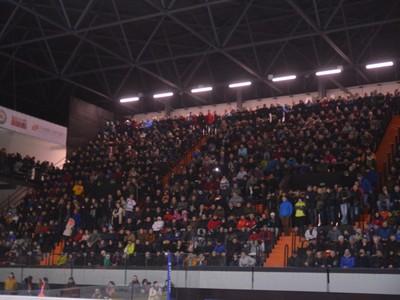 Zaplnený štadión HK Dukla Ingema Michalovce