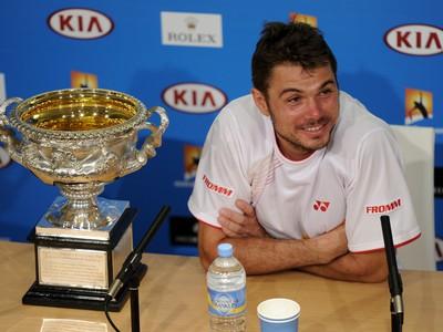 Stanislas Wawrinka s trofejou