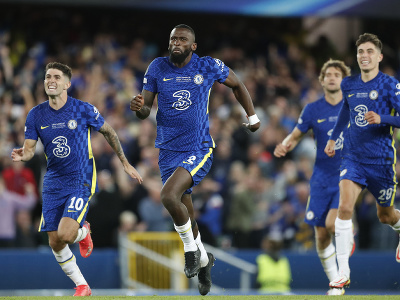 Hráči Chelsea sa radujú z víťazstva