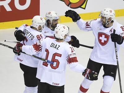 Radosť hráčov Švajčiarska