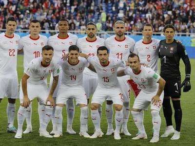 Švajčiarsky tím pred zápasom
