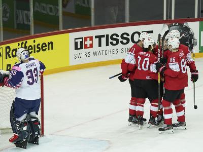 Gólová radosť hokejistov Švajčiarska