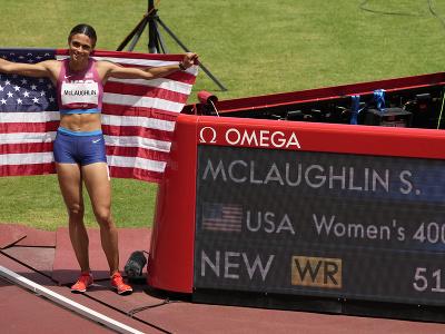 Americká atlétka Sydney McLaughlinová