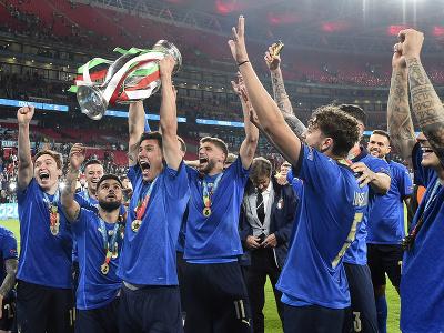 Oslavy talianskych futbalistov s