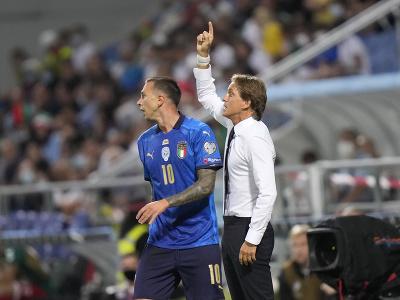 Roberto Mancini na lavičke Talianska
