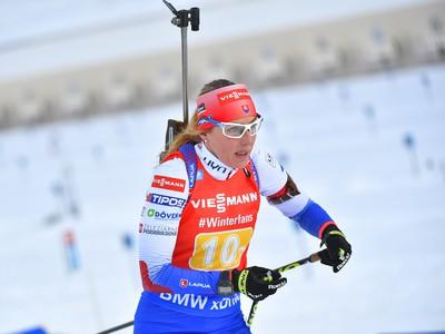Na snímke slovenská biatlonistka Terézia Poliaková