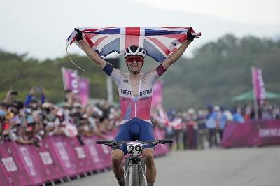 Britský horský cyklista Tom