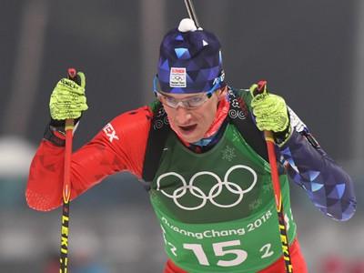 Na snímke slovenský biatlonista Tomáš Hasilla počas štafety mužov