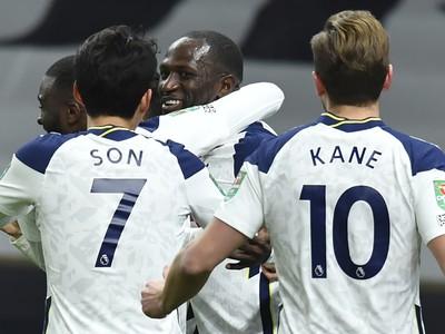 Radosť hráčov Tottenhamu Hotspur