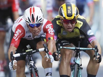 Caleb Ewan a Dylan Groenewegen v súboji o víťazstvo