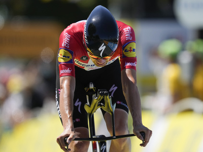 Kasper Asgreen počas 20. etapy Tour de France