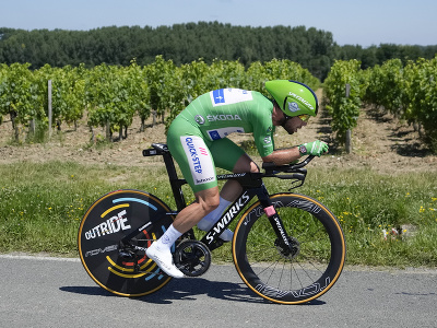 Mark Cavendish počas časovky