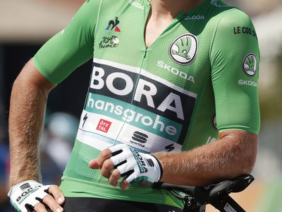 Slovenský cyklista Peter Sagan v zelenom drese