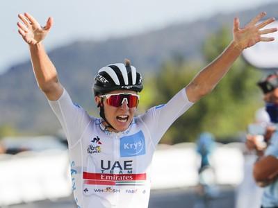 Tadej Pogačar po triumfe v 15. etape Tour de France