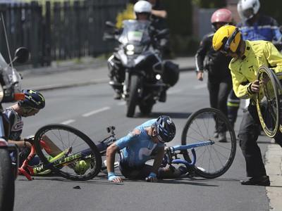 Mikel Landa padol počas 9. etapy TdF